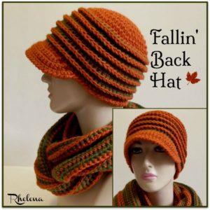 Fallin' Back Hat ~ FREE Crochet Pattern