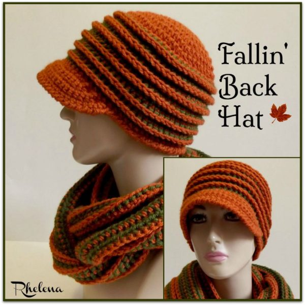 Fallin' Back Hat by CrochetNCrafts