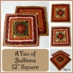 "A Fan of Bullions 12"" Square ~ FREE Crochet Pattern"