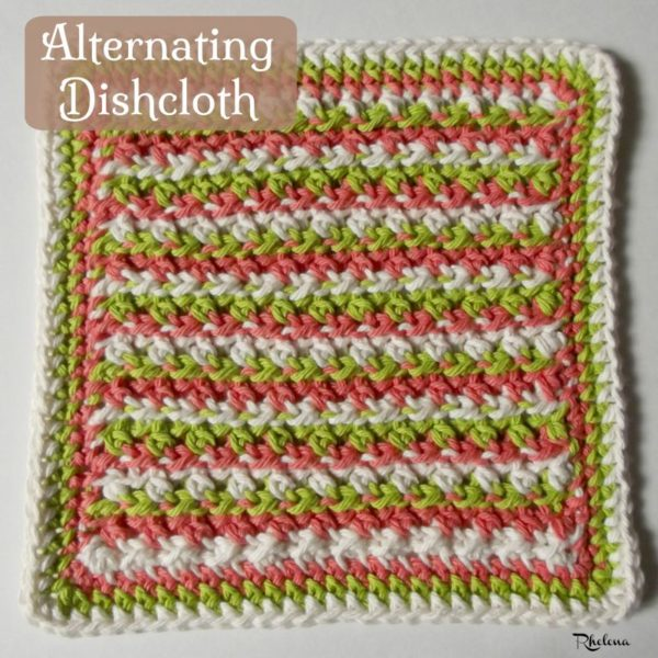 Alternating Dishcloth ~ FREE Crochet Pattern