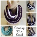 Chunky Ribs Cowl ~ FREE Crochet Pattern