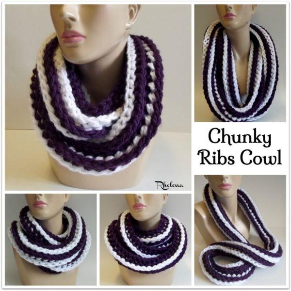 Chunky Ribs Cowl Crochetncrafts