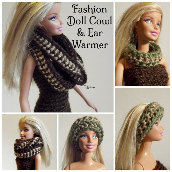 Fashion Doll Cowl & Ear Warmer