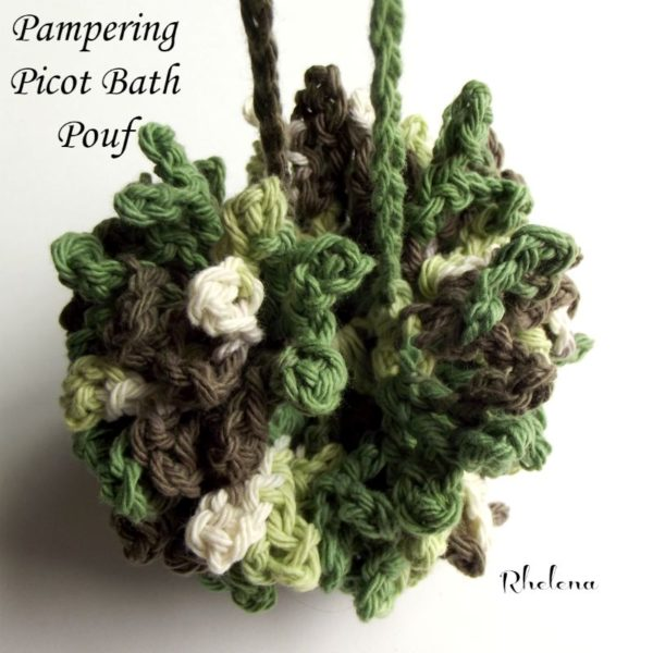Free Crochet Pattern For Bath Pouf : Pampering Picot Bath Pouf - CrochetNCrafts