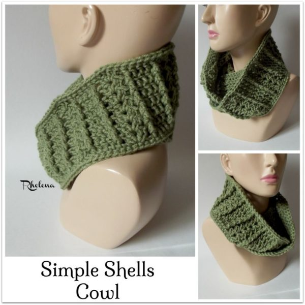 Simple Shells Cowl ~ FREE Crochet Pattern