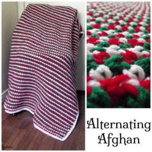 Alternating Afghan ~ Free Crochet Pattern