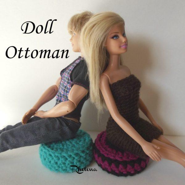 Doll Ottoman ~ FREE Crochet Pattern