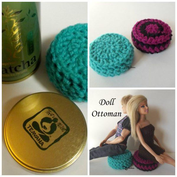Doll Ottoman ~ A FREE Crochet Pattern