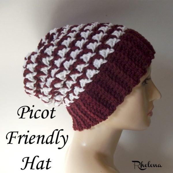 Picot Friendly Hat ~ FREE Crochet Pattern