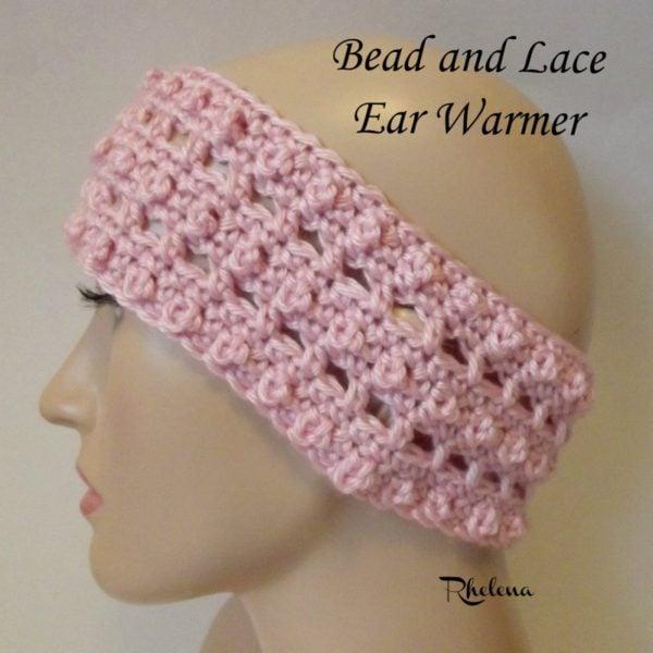 Bead and Lace Ear Warmer ~ FREE Crochet Pattern