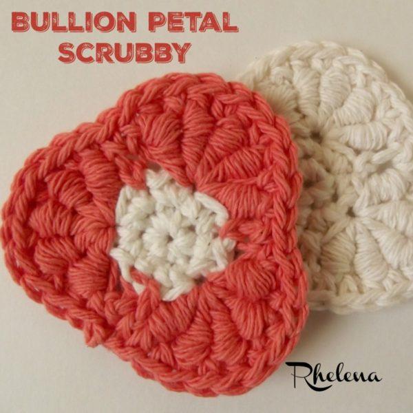 Bullion Petal Scrubby ~ FREE Crochet Pattern