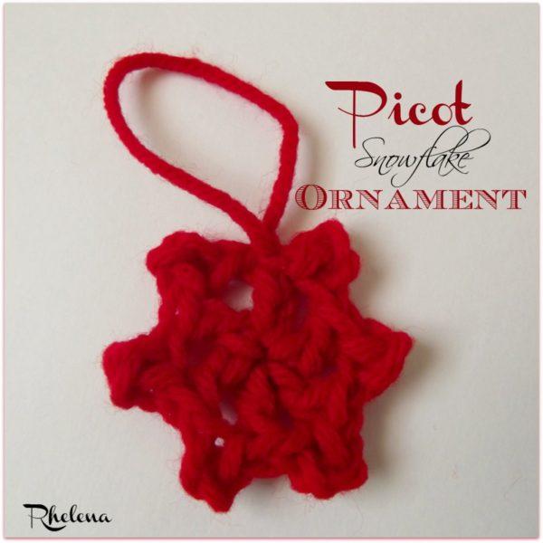 Picot Snowflake Ornament ~ FREE Crochet Pattern