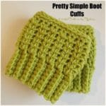 Pretty Simple Boot Cuffs ~ FREE Crochet Pattern