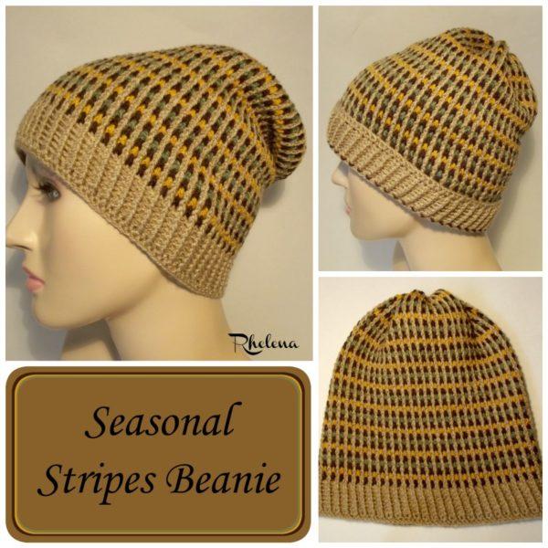 Seasonal Stripes Beanie ~ FREE Crochet Pattern