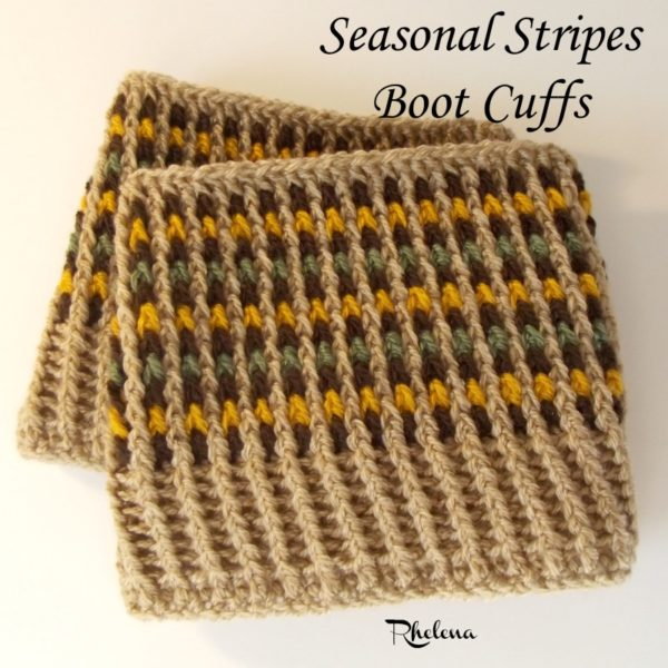 Seasonal Stripes Boot Cuffs Crochetncrafts