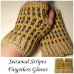 Seasonal Stripes Fingerless Gloves ~ FREE Crochet Pattern