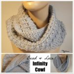 Bead and Lace Infinity Cowl