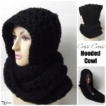 Criss Cross Hooded Cowl ~ FREE Crochet Pattern
