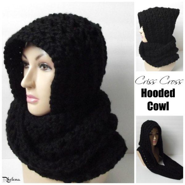 Criss Cross Hooded Cowl ~ FREE Crochet Pattern