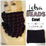 Lotsa Beads Chunky Cowl ~ FREE Crochet Pattern
