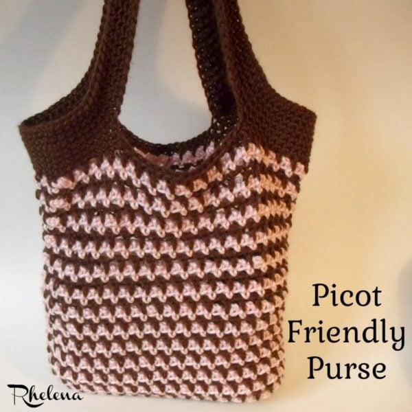 Picot Friendly Purse Crochetncrafts