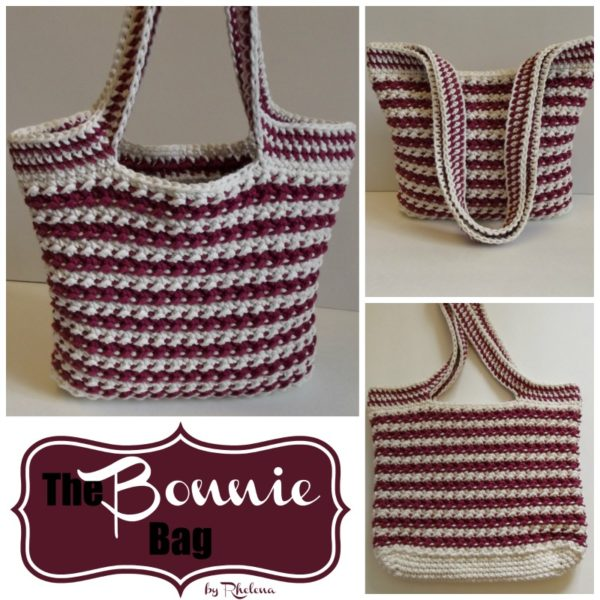 Free crochet pattern for the bonnie bag. It features a lovely texture and color tone.