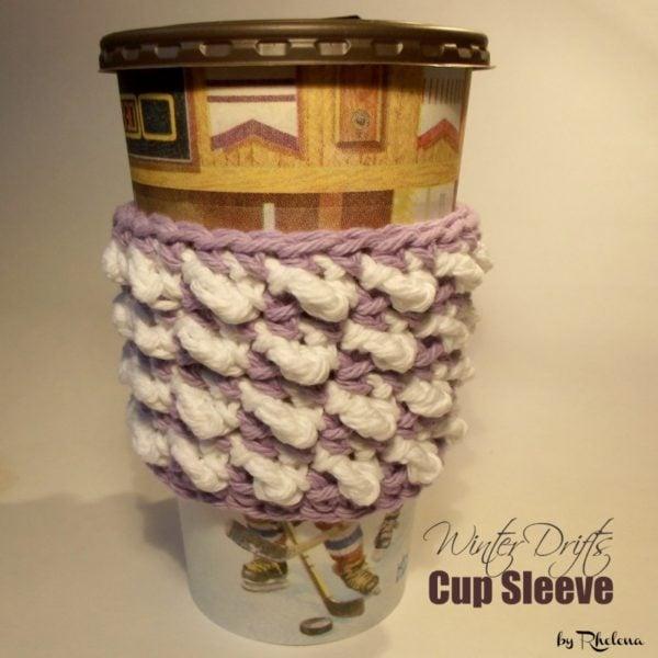 Winter Drifts Crochet Coffee Sleeve - FREE Crochet Pattern