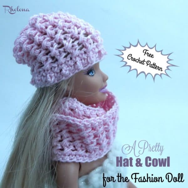 b0ee125af36 A Pretty Hat   Cowl for the Fashion Doll - CrochetN Crafts