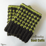 Alternating Boot Cuffs ~ FREE Crochet Pattern