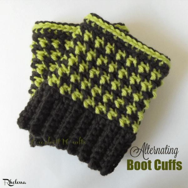 Alternating Boot Cuffs ~ FREE Crochet Pattern