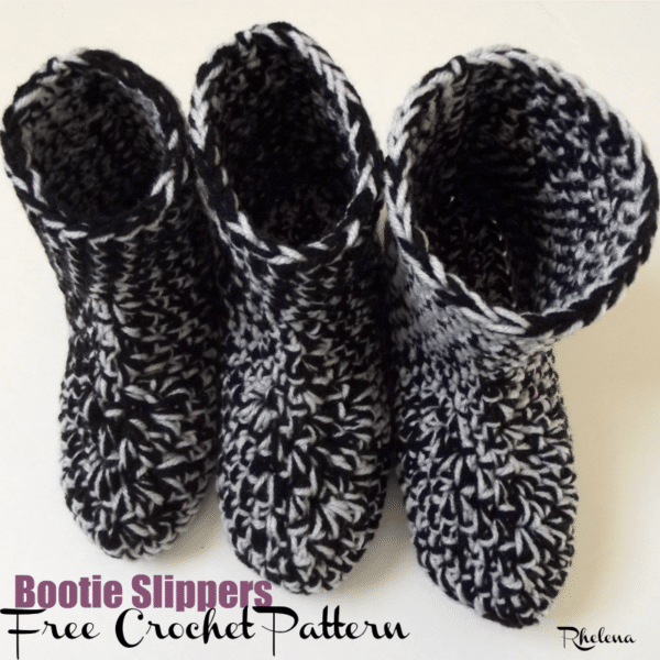 Bootie Slippers ~ FREE Crochet Pattern