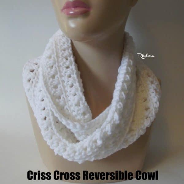 Criss Cross Reversible Cowl Crochetncrafts