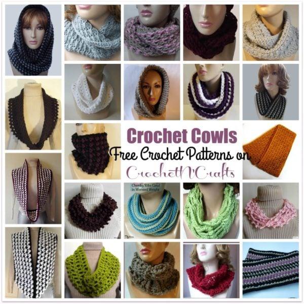 Free cowl crochet patterns on CrochetN'Crafts