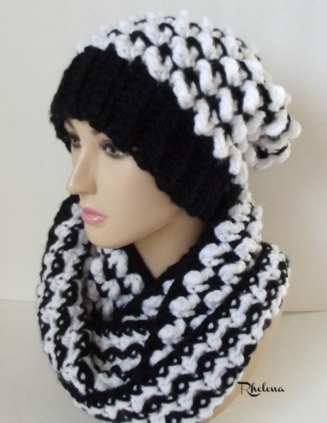 Winter Drifts Cowl and Beanie ~ FREE Crochet Patterns