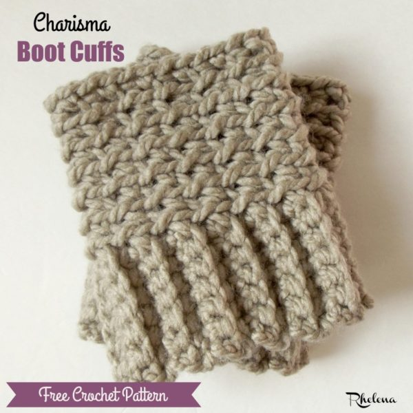 Charisma Boot Cuffs ~ FREE Crochet Pattern