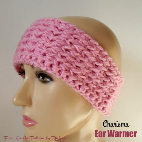 Free Crochet Pattern For A Ear Warmer : Charisma Ear Warmer - CrochetNCrafts