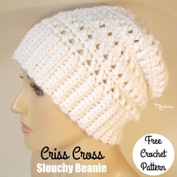 Phenomenal Criss Cross Slouchy Beanie Crochetncrafts Hairstyles For Women Draintrainus