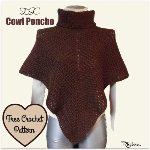 ESC Cowl Poncho ~ FREE Crochet Pattern