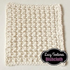 Lacy Textured Dishcloth Crochet Pattern