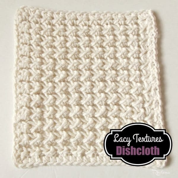Lace Dishcloth Knitting Pattern : Lacy Textures Dishcloth - CrochetNCrafts