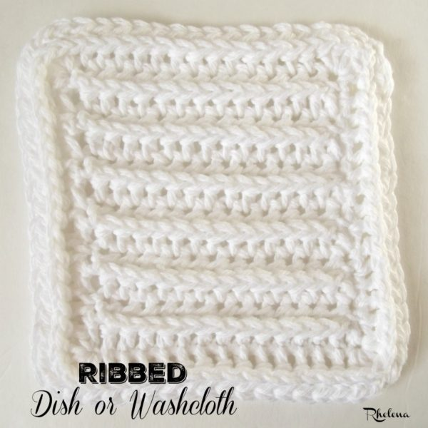 Ribbed Dish or Washcloth ~ FREE Crochet Pattern