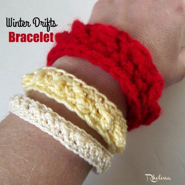 Winter Drifts Bracelet ~ FREE Crochet Pattern