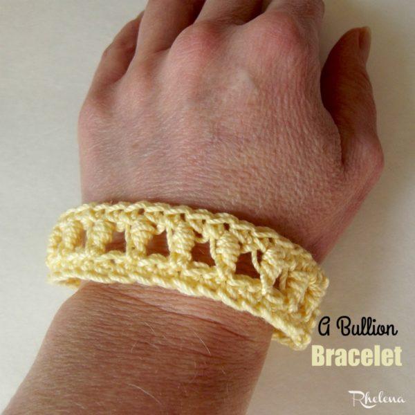 A Bullion Bracelet ~ FREE Crochet Pattern