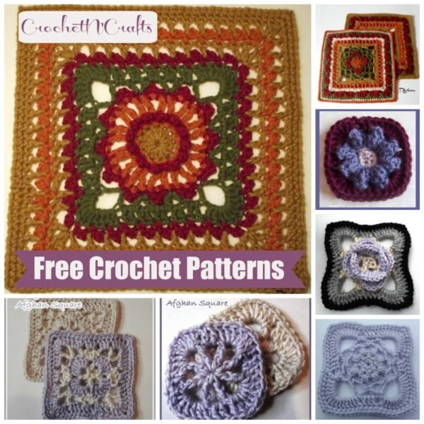 Free Crochet Patterns Of Afghan Squares : Crochet Afghan Squares ~ FREE Crochet Patterns