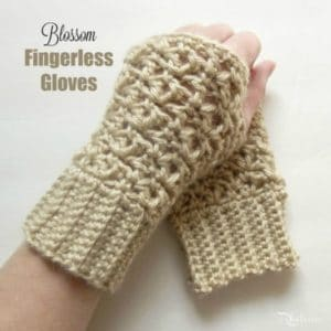 Blossom Fingerless Gloves by CrochetN'Crafts
