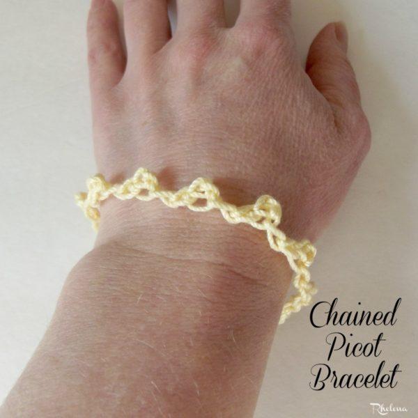Chained Picot Bracelet ~ FREE Crochet Pattern