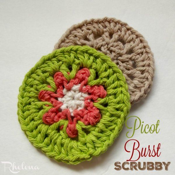 Picot Burst Scrubby ~ FREE Crochet Pattern