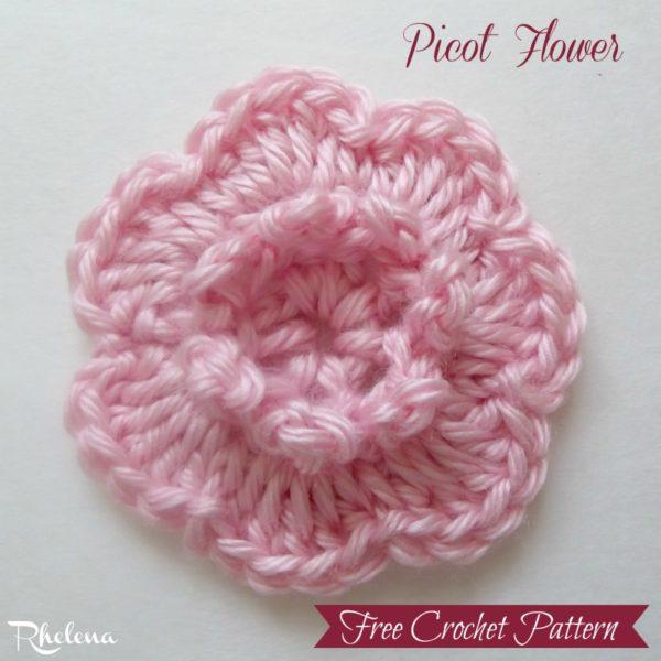Picot Flower ~ FREE Crochet Pattern