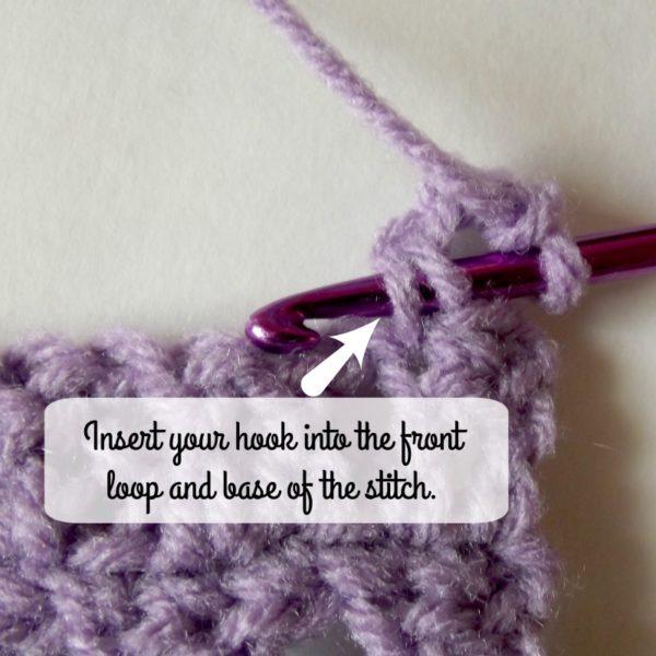 Picot Into Stitch