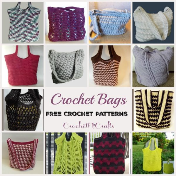 Crochet Bags ~ FREE Crochet Patterns